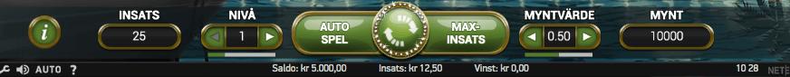 Spelets RTP går att finna längst ner på spelplanen.
