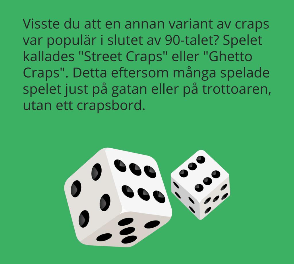 Fakta om Street Craps.