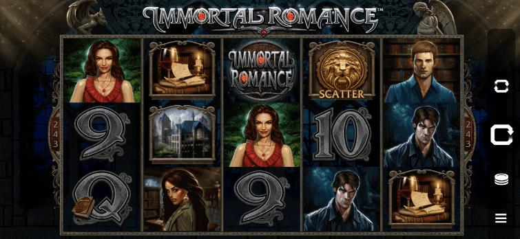 Immortal romance slot.