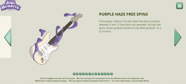 Jimi Hendrix Online Slot Bonus