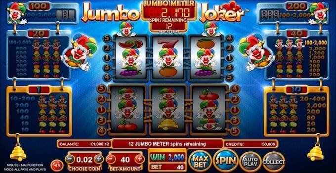 Jumbo Joker slot Bonus