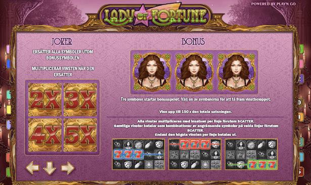 Lady of Fortune Bonus