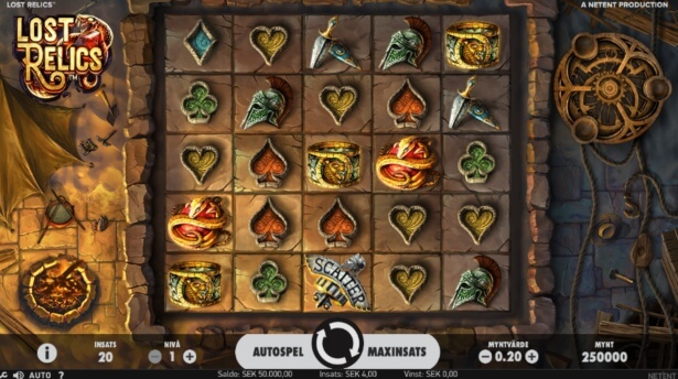 Lost Relics Slot Spel