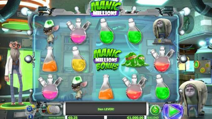 Manic Millions Spel