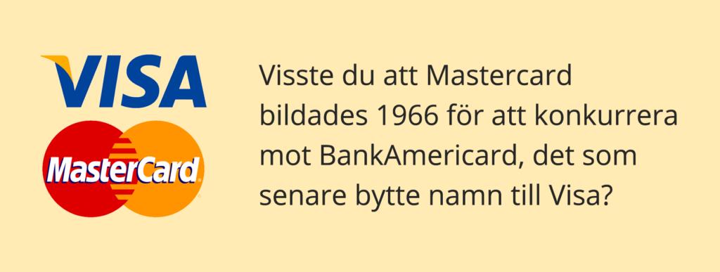 När grundades MasterCard?
