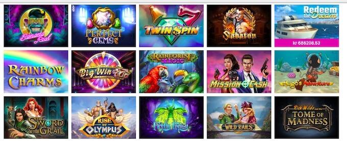 MrPlay Casino spelutbud