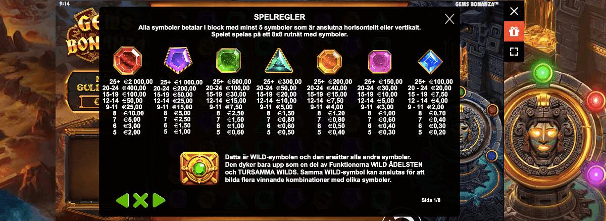 Gems Bonanza Slot Free Spins