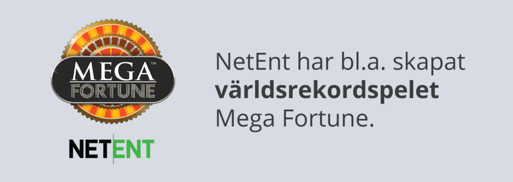 NetEnt har skapat Mega Fortune Jackpot Slot