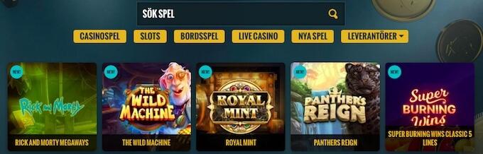 No Account Casino spellobby