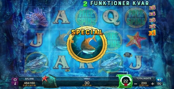 Oceans Secret Free Spins