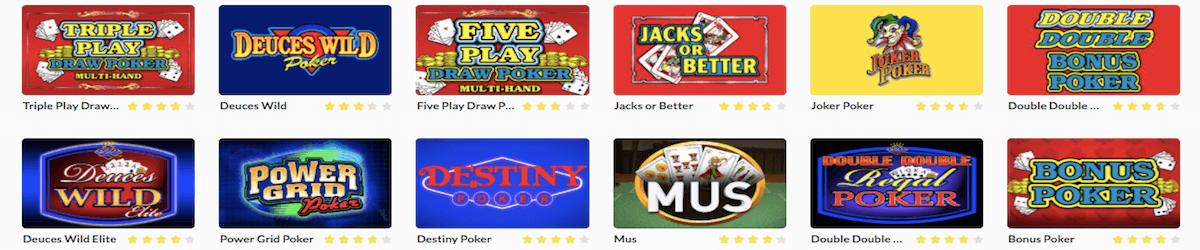 Videopoker spel