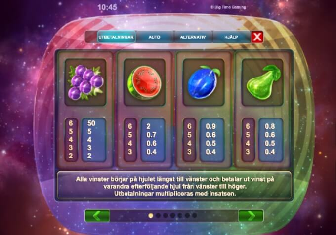 Opal Fruits Slot Bonus