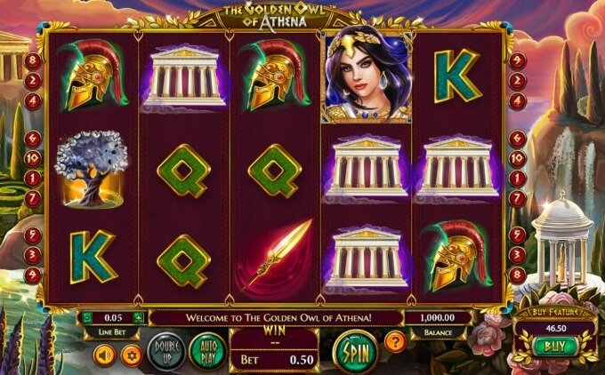 Golden Owl of Athena Slot Free Spins