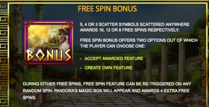 Magic of Pandora Bonus