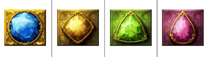 Perfect Gems spelsymboler