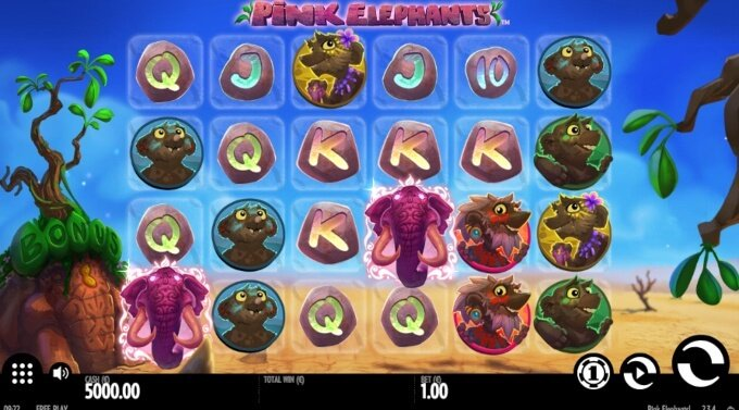 Pink Elephants Slot Bonus Game