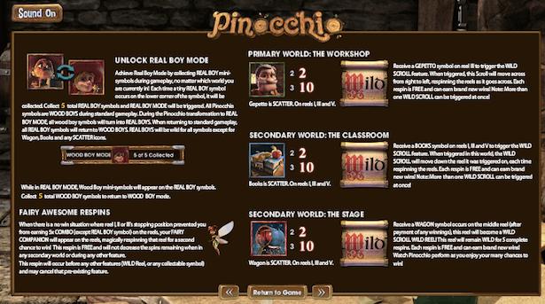 Pinocchio Bonus