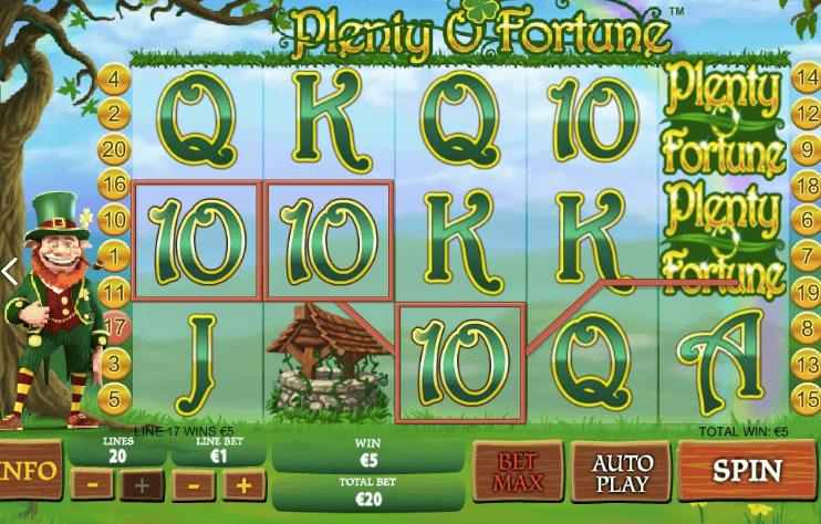 Plenty O' Fortune spelplan