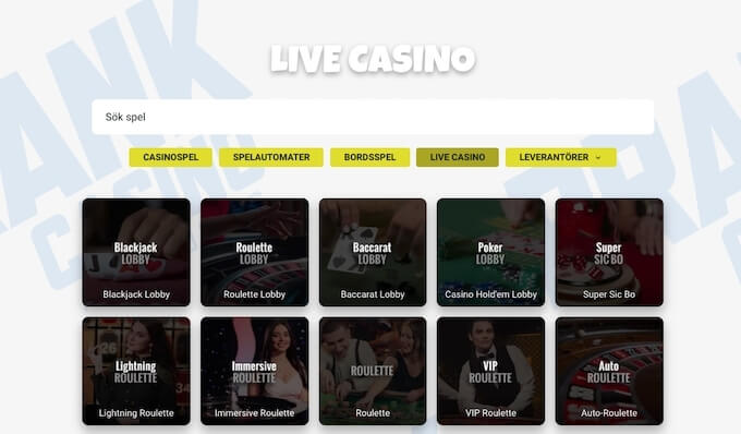 Prank Live Casino