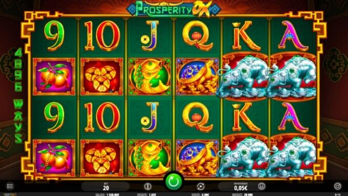 Prosperity Ox Slot Bonus Game