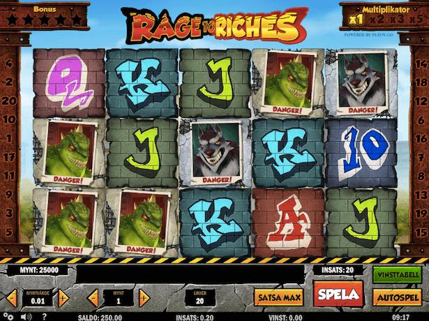 Rage to Riches Bonus