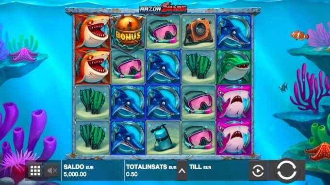 Razor Shark Slot Bonus Game