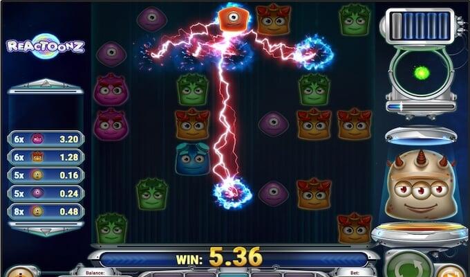 Reactoonze Slot Bonus