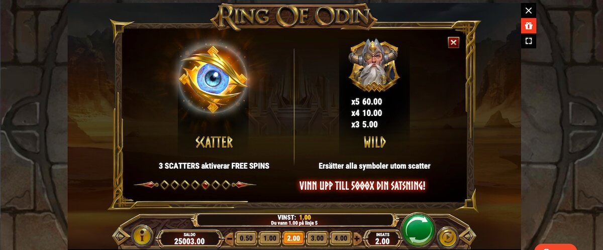 Ring of Odin wilds