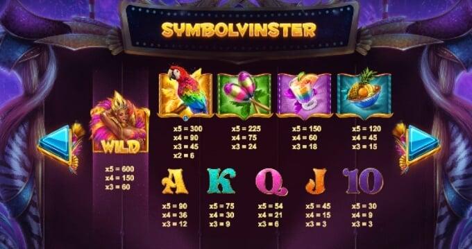 Rio Stars Slot Bonus Symbols