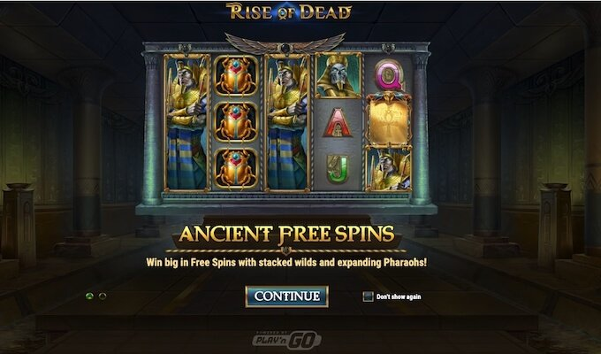 Rise of Dead slot Ancient Free Spins