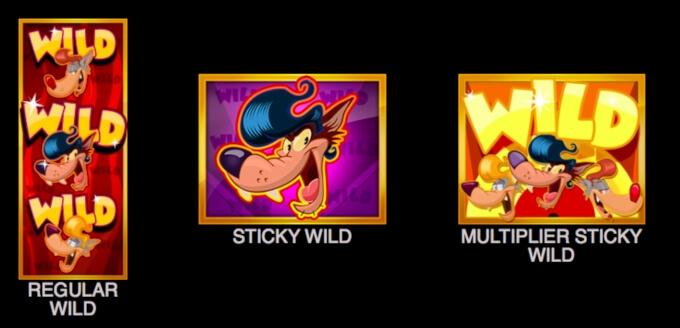Rockabilly Wolves Slot Symbols