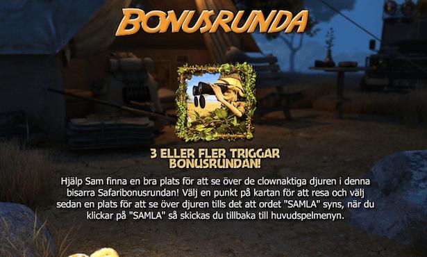 Safari Sam Bonus