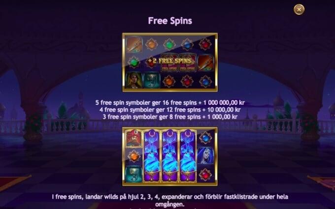 Sahara Nights Slot Bonus Free Spins
