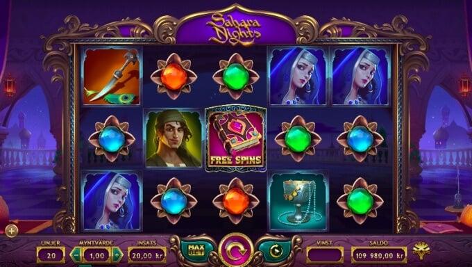 Sahara Nights Slot Bonus Game
