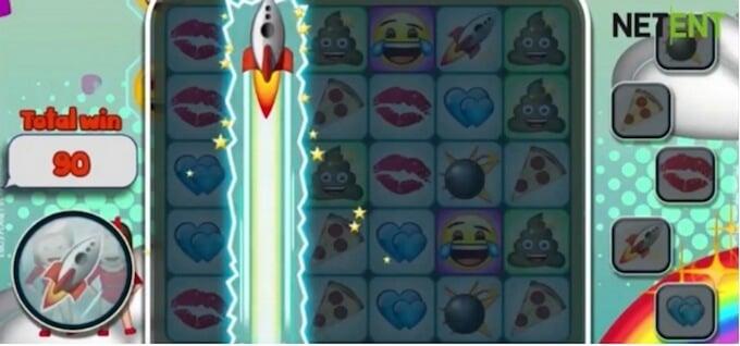Emojiplanet slot raket-bonussymbol