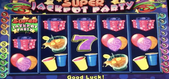Jackpot Party screen