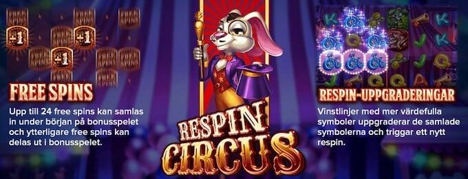 Respin Circus bonus