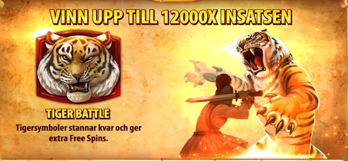 Tiger's Glory free spins