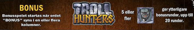 Troll Hunters bonus