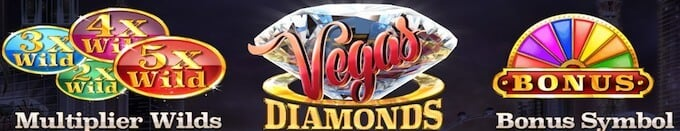 Vegas Diamonds bonusfunktioner