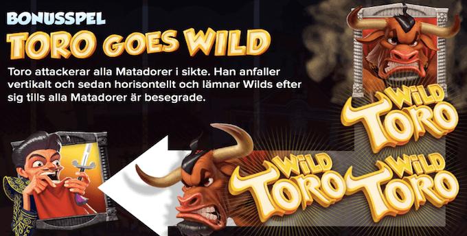 Wild Toro bonus