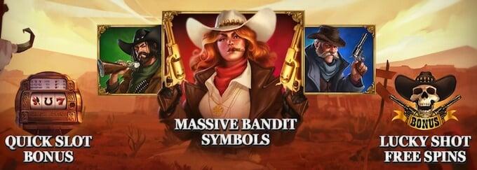 Sticky Bandits bonusfunktioner