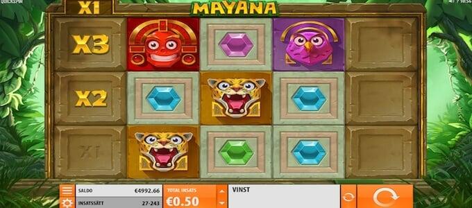 Mayana slot spelplan
