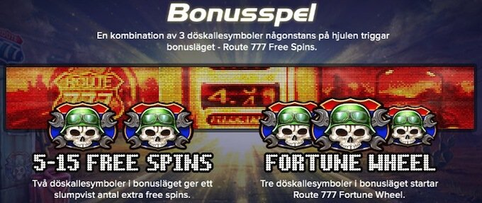 Route 777 free spins