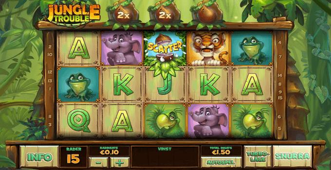 Jungle Trouble spelplan