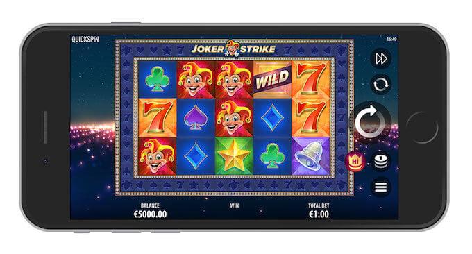 Spela Joker Strike slot i mobilen