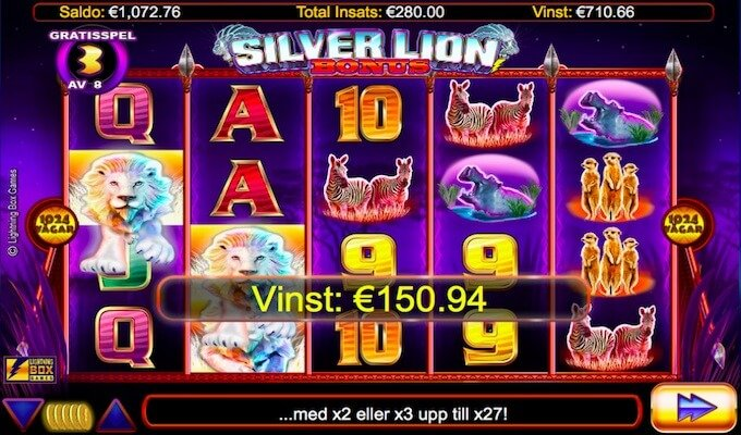 Silver Lion Free Spins