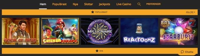 Snabbis Casino Spel