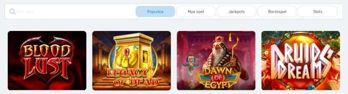 Spelklart Casino spel