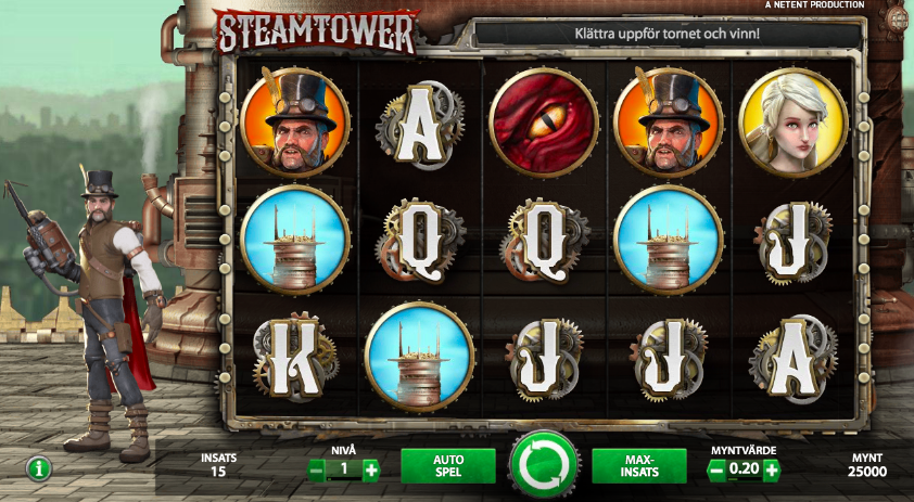 Steam Tower spelplan.